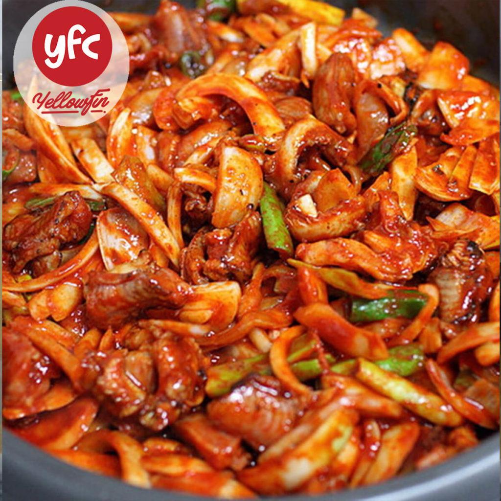 YFC _ Cá Ninja / Cá mút đá xào cay Hàn Quốc