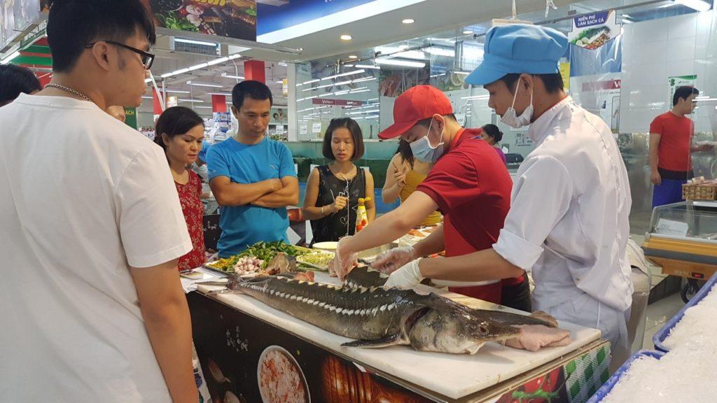 Cá tầm nga khủng YFC tại Vinmart